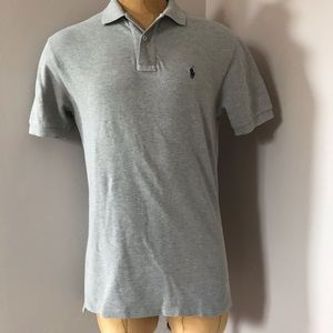 POLO Ralph Lauren Gray Polo T-Shirt Men's Sz M